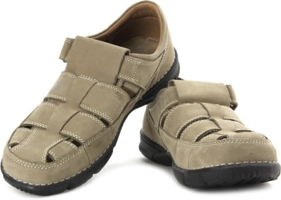 Woodland Men KHAKI Sandals at flipkart