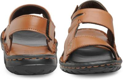 1e088fb2d13 ... Teakwood Men Black Sandals ...
