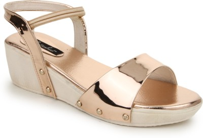 Funku Fashion Women PeachPuff Wedges at flipkart