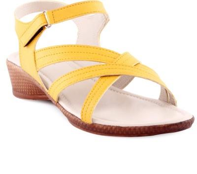 Kielz Women Yellow, Beige Wedges Kielz Wedges
