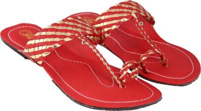 Jade Women Red Flats