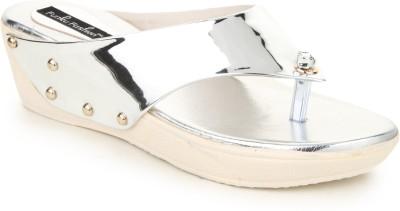 Funku Fashion Women Silver Wedges