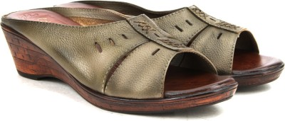 Catwalk Women KHAKI Wedges at flipkart