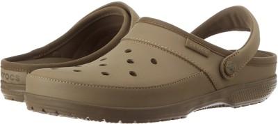 Crocs Women Khaki Clogs at flipkart