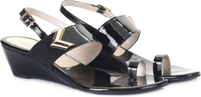 Lavie Women Black Wedges at flipkart