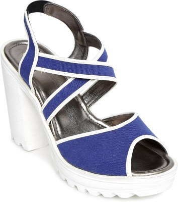 Catwalk Women BLUE Heels at flipkart