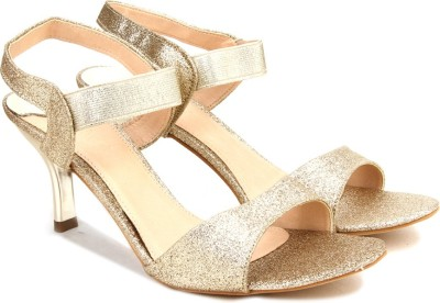 Catwalk Women GOLD Heels at flipkart