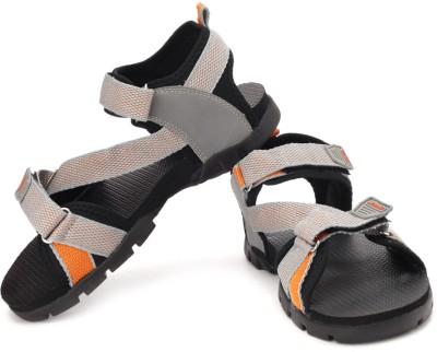 Sparx Men Grey Orange Sports Sandals