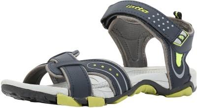 Lotto Men Grey Lime Sandals at flipkart