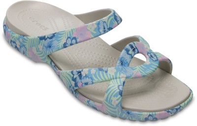Crocs Women Light Blue/Tropical Clogs at flipkart
