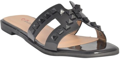 Shuberry Women Black Flats at flipkart