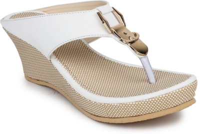 Dignity Women White Wedges Dignity Wedges