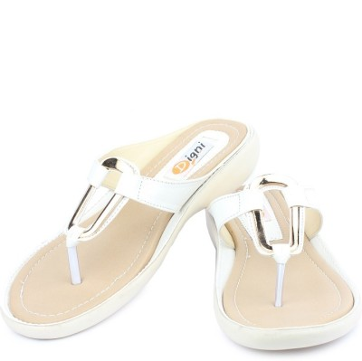 Dignity Women White Flats Dignity Flats