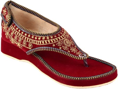 Rangmor Women Red Heels at flipkart