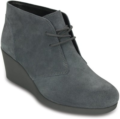 Crocs Women Grey Wedges at flipkart