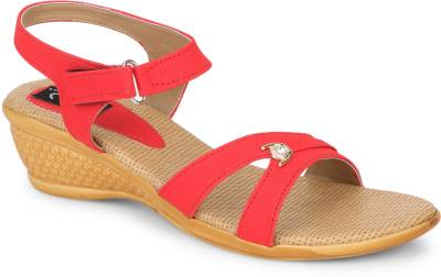 Jayn Martin Women Soothing Beige::Elegant Red Heels