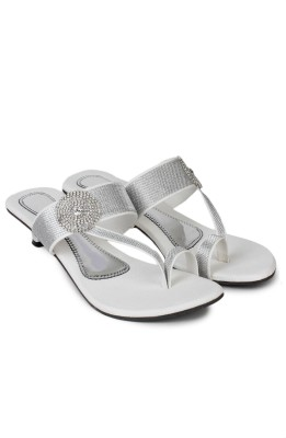 London Steps Women Silver Heels London Steps Heels