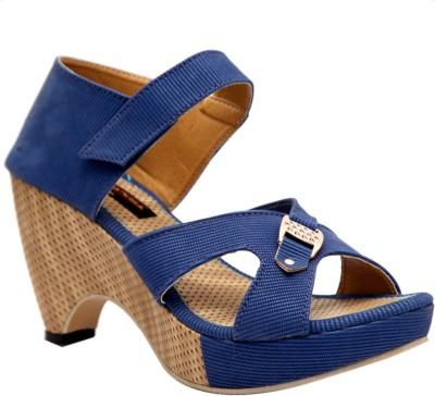 Trilokani Women Blue Heels