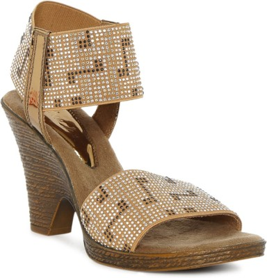 Catwalk Women BRONZE Wedges at flipkart