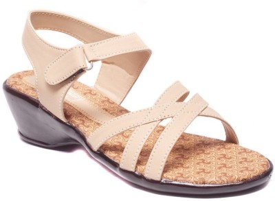 Dolphin Miles Women Beige Heels  available at flipkart for Rs.325