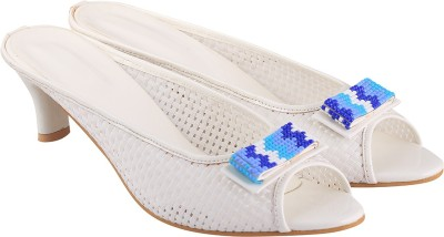 Go India Store Women WHITE Heels at flipkart