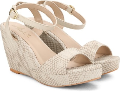 Carlton London Women TAUPE Wedges at flipkart