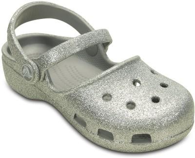 Crocs Girls Clogs(Silver) at flipkart