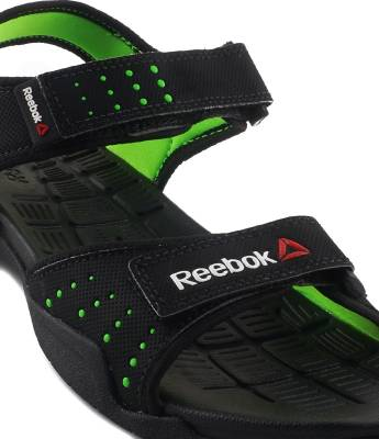 2c71ba13ca8c Reebok Men BLACK NEON GREEN Sports Sandals ...