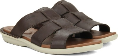 Clarks Men Dark Brown Lea Sports Sandals at flipkart