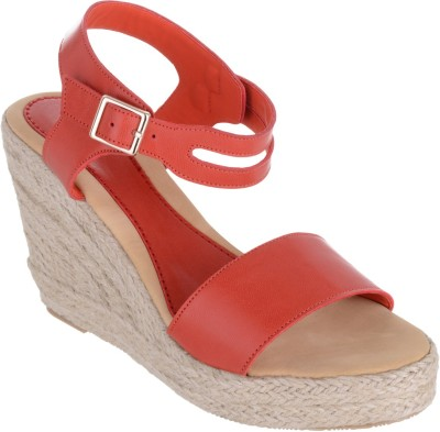 Sherrif Shoes Women Red Wedges at flipkart