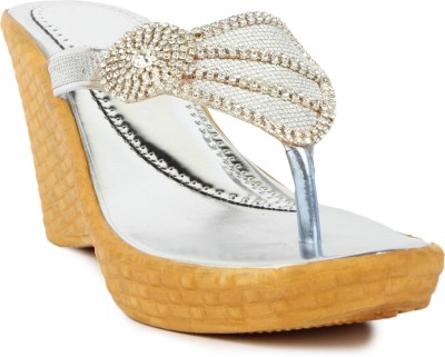 STAR STYLE Women White Wedges STAR STYLE Wedges