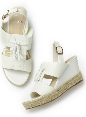 Mast & Harbour Women White Heels at flipkart