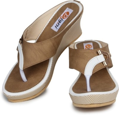 Digni Women White Wedges Digni Wedges