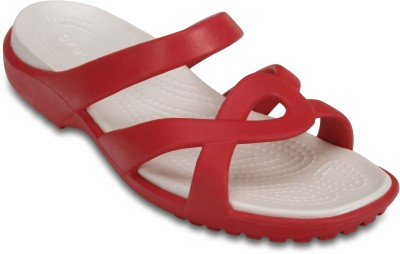Crocs Women Flame/Oyster Clogs at flipkart