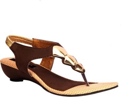 Trilokani Women Brown Wedges