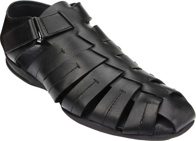 ESTD. 1977 Men BLACK Sandals at flipkart