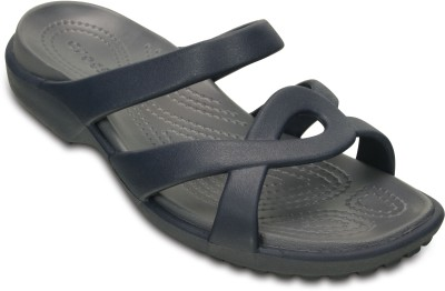 Crocs Women Navy/Storm Clogs at flipkart