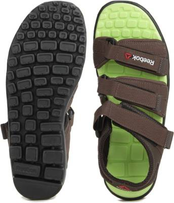 Reebok Men STONE/HI VIS GREEN Sports Sandals