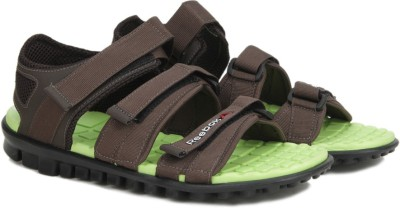 Reebok Men STONE/HI VIS GREEN Sports Sandals at flipkart