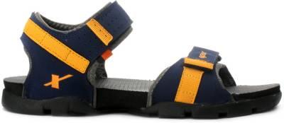 baf71bee002 ... Sparx Men Navy Blue Yellow Sports Sandals ...