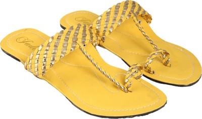 Jade Women Yellow Flats