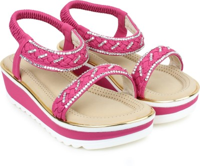 London Steps Women Pink Wedges