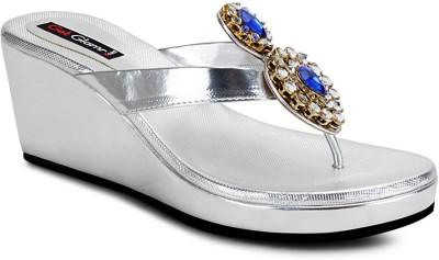 Get Glamr Girls Wedges(Silver)