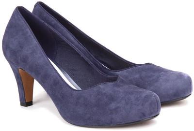Clarks Women Violet Suede Heels at flipkart