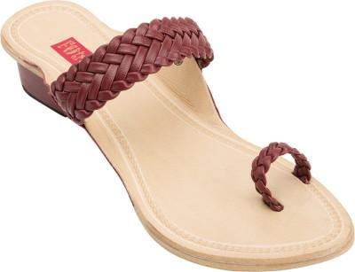 Footrendz Women Maroon Heels Footrendz Heels