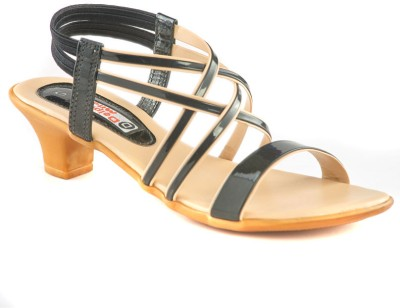 Dolphin Miles Women Black Heels  available at flipkart for Rs.349
