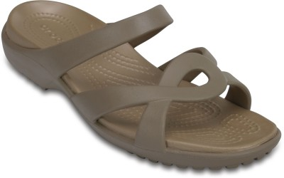 Crocs Women Mushroom/Gold Clogs at flipkart