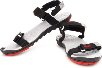 Sparx Men Black Black Sports Sandals