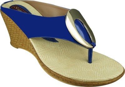 Smart Traders Women BLUE Wedges at flipkart