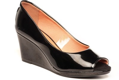 Pavers England Women BLACK Wedges at flipkart